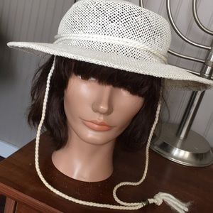Vintage Straw Boater Hat